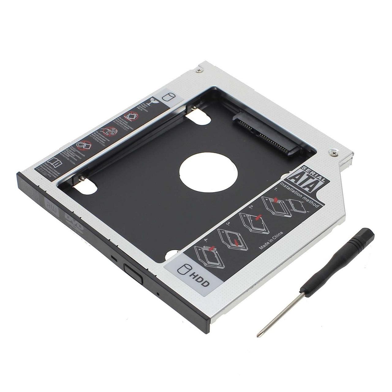 Rám / rámeček na HDD / harddisk / SSD místo CD / DVD mechaniky , 12,7mm