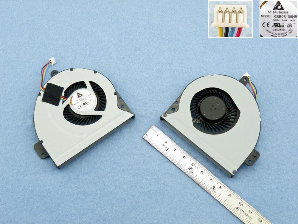 Ventilátor chlazení pro notebook: Asus A43 K43 X43 A53 K53 X53