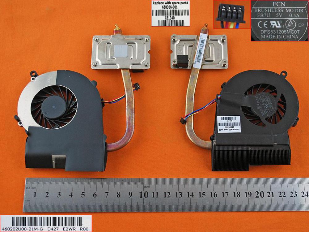 Ventilátor chlazení pro HP Compaq Presario 650 655 CQ58