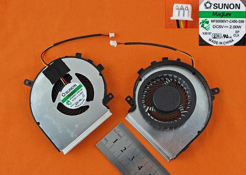 Ventilátor chlazení pro notebooky MSI GE62 GE72 GL62 GL72 PE60 PE70 , CPU
