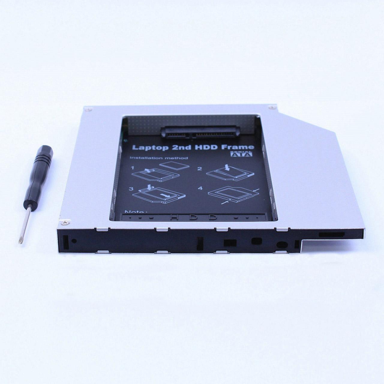 Rám / rámeček na HDD / harddisk / SSD místo CD / DVD mechaniky, připojení PATA /IDE , 12,7mm