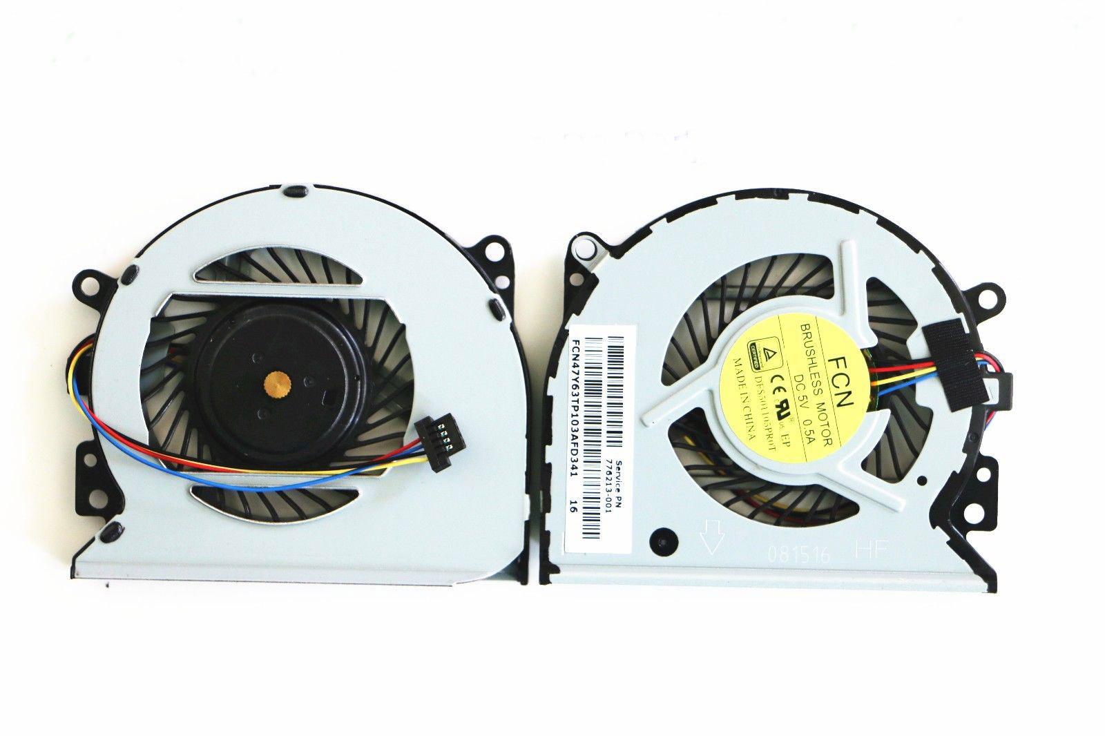 Ventilátor chlazení pro HP Envy 15-U 15-U000 15-U011D 15-U010DX 15-U483CL