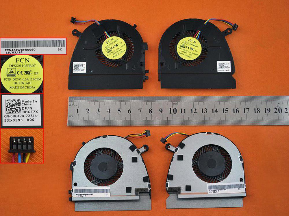 Ventilátor chlazení pro notebooky Dell Vostro 5460 V5460 V5470