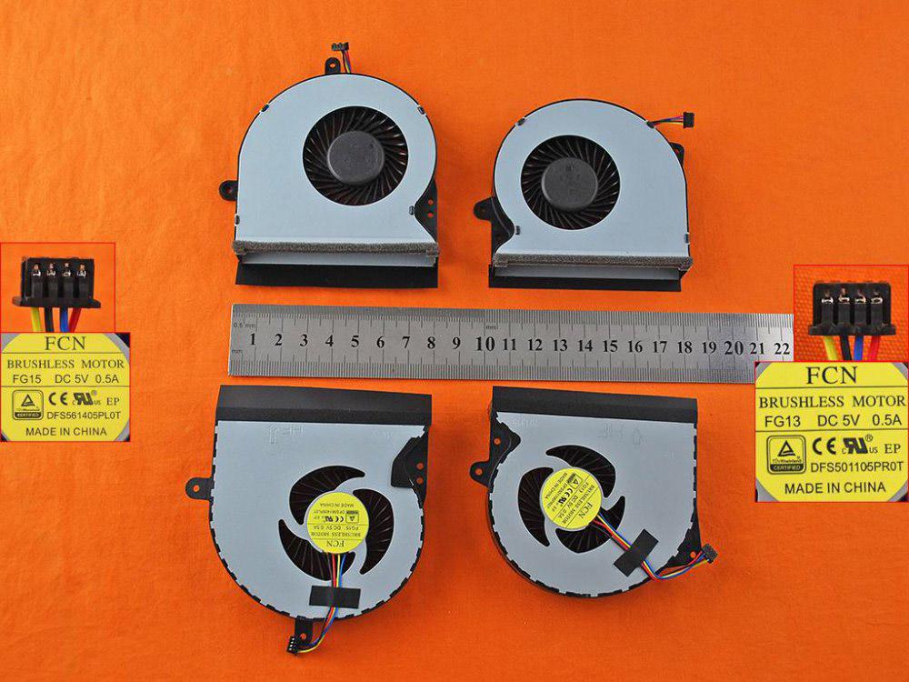 Ventilátor chlazení pro notebook: Asus G751 G751J G751M G751JT G751JY G751JL