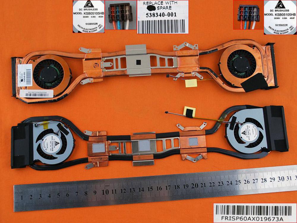 Kompletní chlazení / ventilátor pro HP Envy 13-1000