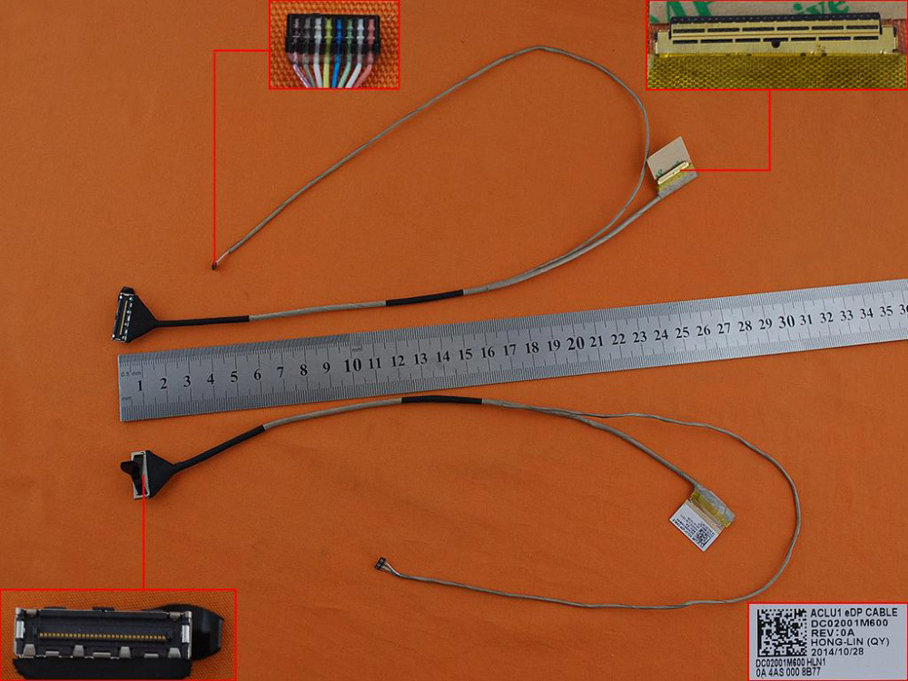 LCD flex kabel pro notebooky Lenovo Ideapad G40-30 G40-45 G40-75 Z40-45, verze 1