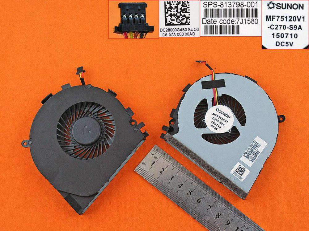 Ventilátor chlazení pro HP Envy 17-N000 M7-N