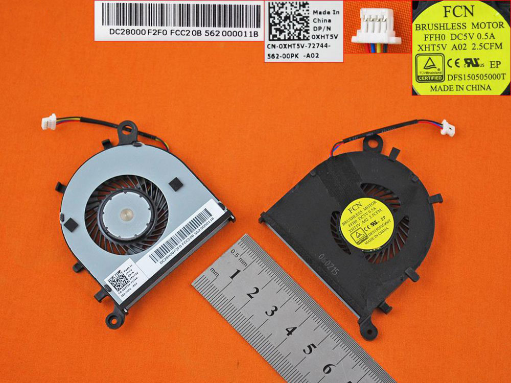 Ventilátor chlazení pro notebooky Dell Inspiron XPS 13 9343