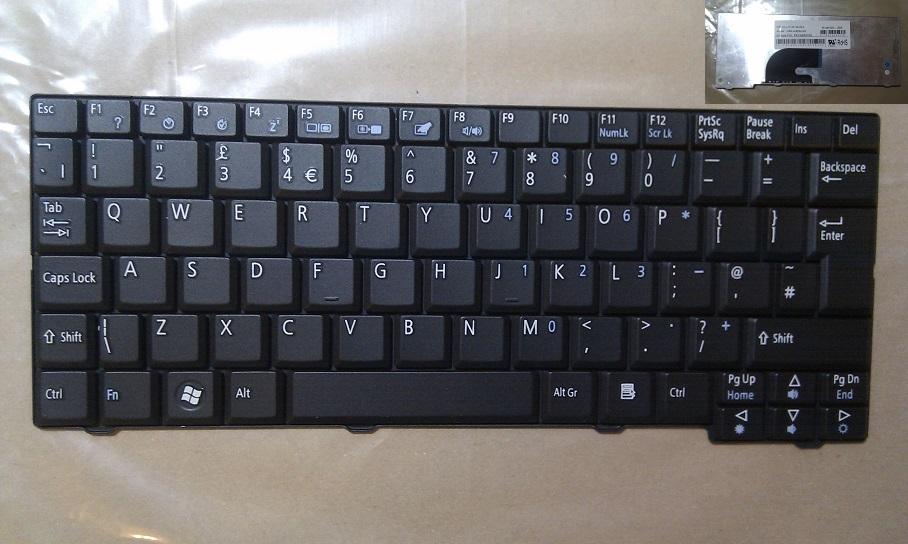 """Klávesnice pro notebooky Acer Aspire One A110 A150 D150 D250 531h 571h - černá, velká klávesa """"Enter"""""""