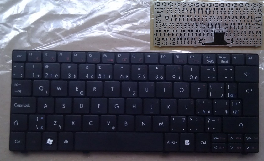 Klávesnice na notebooky CZ-SK Acer Aspire One 722 1830T 751H 1430 8172 AO722H