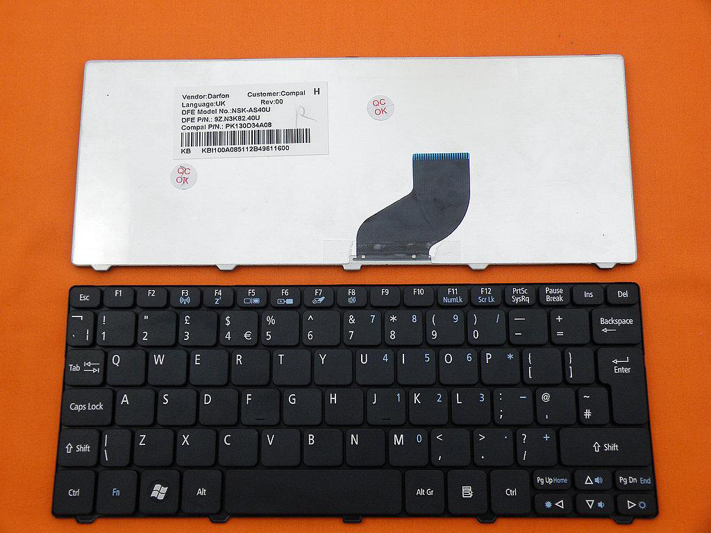 Klávesnice pro Acer Aspire One532H AO532 D255 D255E D257 D260
