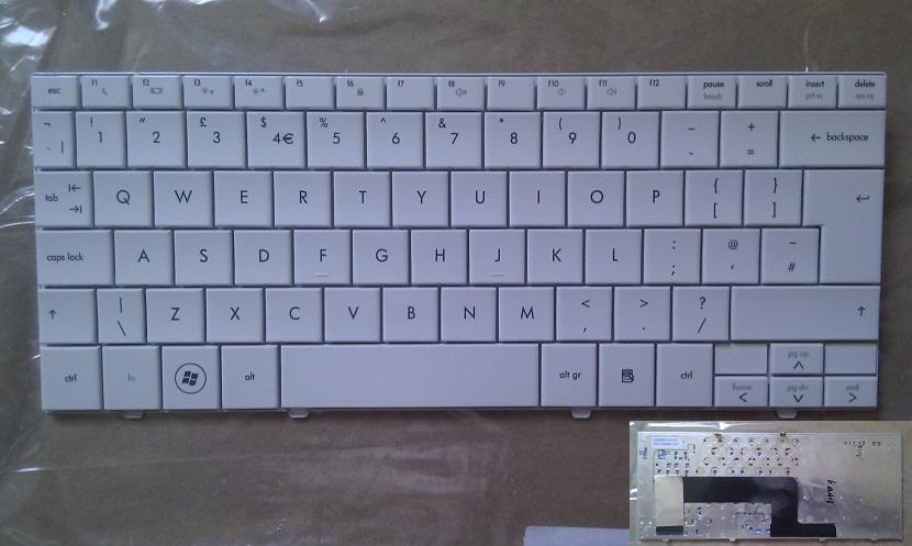 Klávesnice pro HP mini 110 110-1000 1100 1200 700ES 1100 1101 CQ10 - bílá