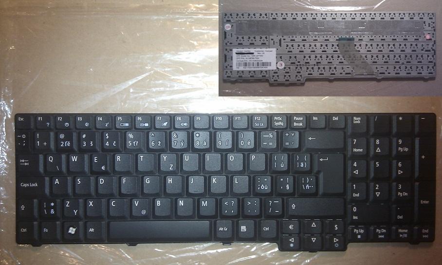 Česká / slovenská ( CZ / SK ) klavesnice pr notebooky Acer Aspire, Extensa, eMachines - česká, slovenská