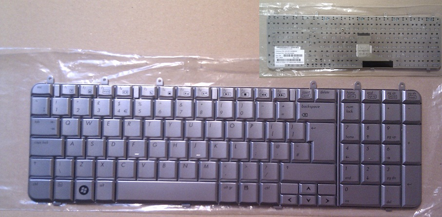 """Klávesnice pro notebooky HP Pavilion dv7 dv7-1000 dv7-1100, velká klávesa """"Enter"""""""