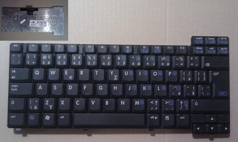 Použitá CZ klávesnice HP Compaq NX7300 NX7400 NC8220 NC8230 NC8430 NX8220