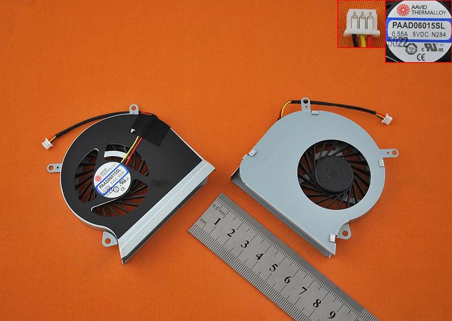 Ventilátor chlazení pro notebooky MSI GE60 MS-16GA MS-16GC CPU-VGA E33-0800401-MC2