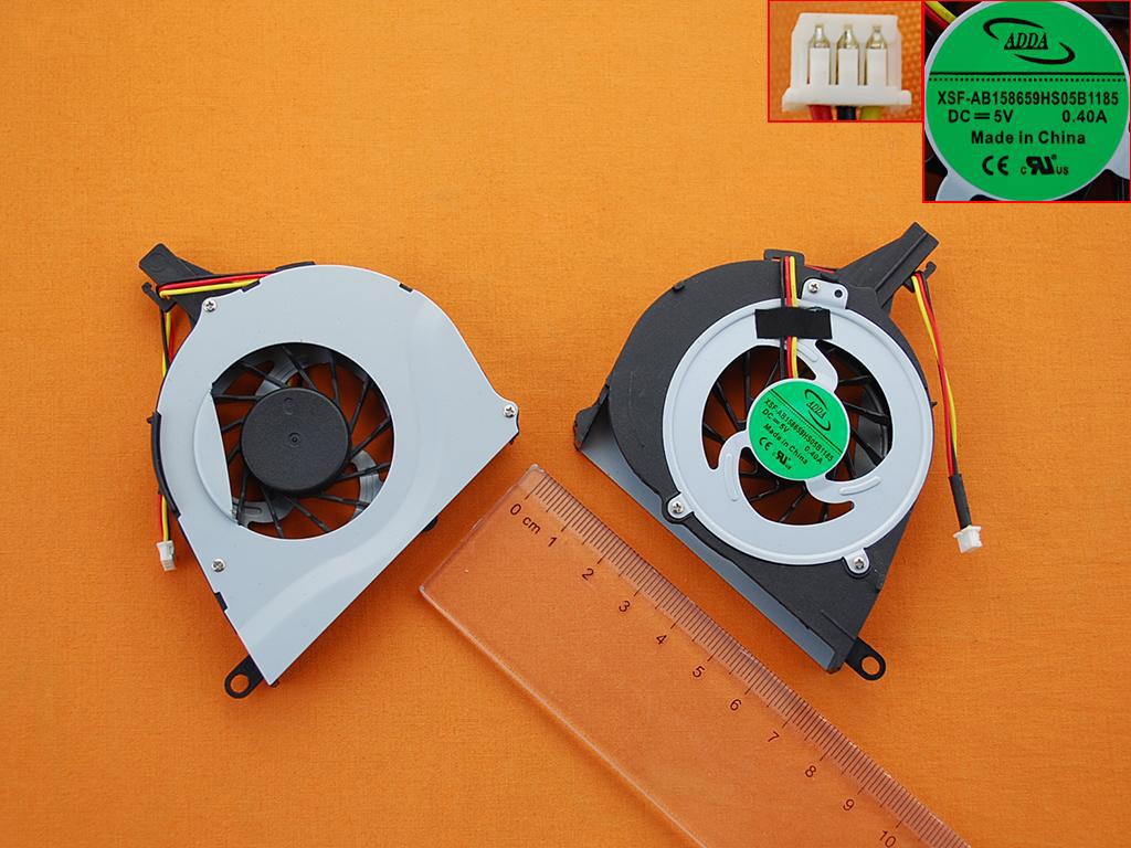 Ventilátor chlazení pro notebooky Toshiba Satellite L650 L650D L655 L655D Laptop (3-PIN)
