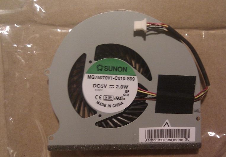 Ventilátor chlazení pro Acer Aspire TimelineX 3830 3830G 3830T 3830TG