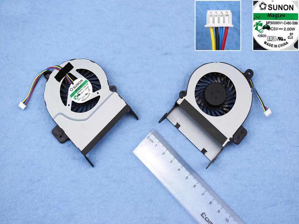Ventilátor chlazení pro notebooky Asus X55V X55VD K55VM X45C X45VD R500V - verze 1