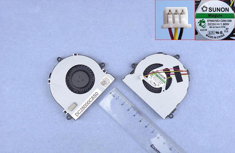 Ventilátor chlazení pro notebooky Dell inspiron 15R 17 17R 3521 3721 5521 5535 5721 74X7K