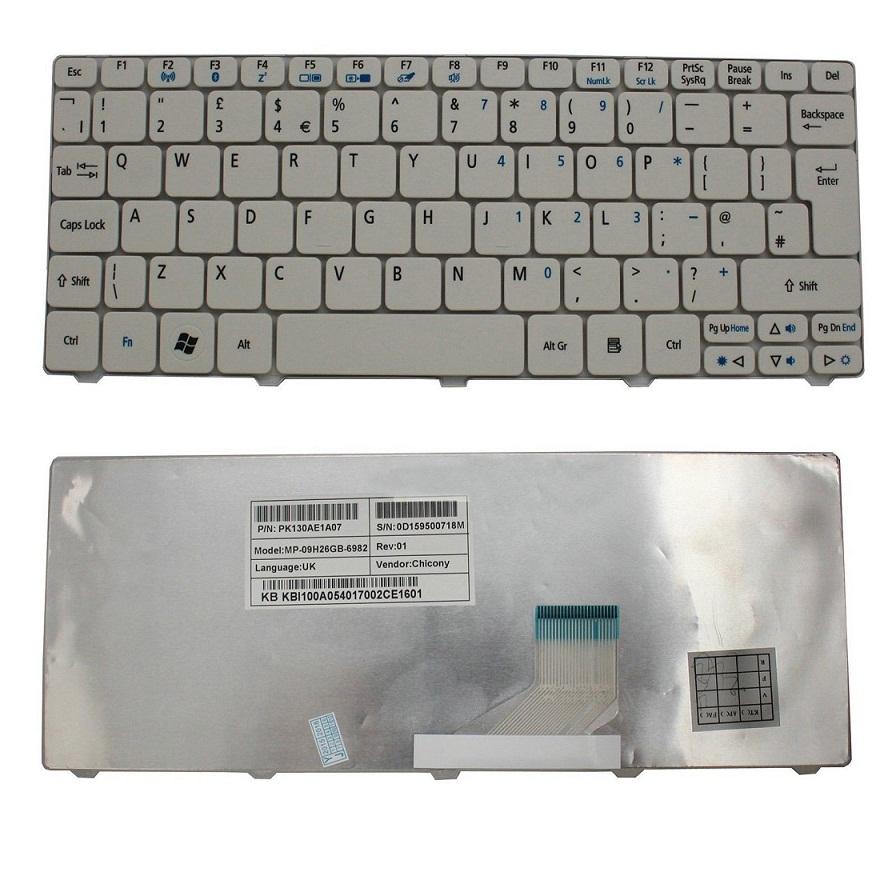 Klávesnice pro notebooky Acer Aspire One 532 532H AO532 D255 D255E D257 D260