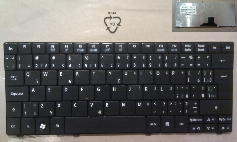 Klávesnice na notebooky CZ-SK Acer Aspire One 722 1830T 751H 1430 8172