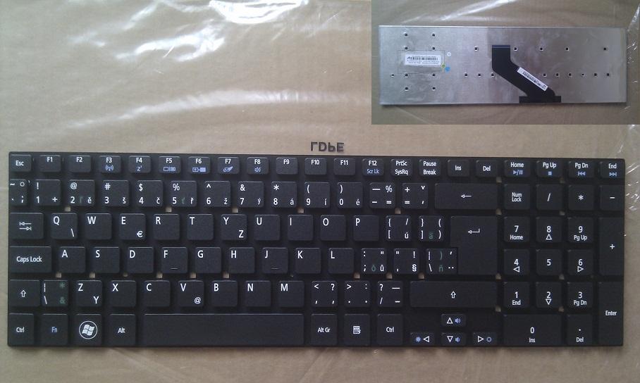 Klávesnice CZ/SK ( česká/slovenská ) pro notebook Acer Aspire E5-511 E5-511G E5-511P E5-521 E5-521G