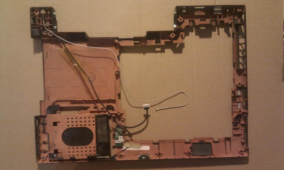 Spodní plastový díl / vana z notebooku MSI gx623 MS -1651