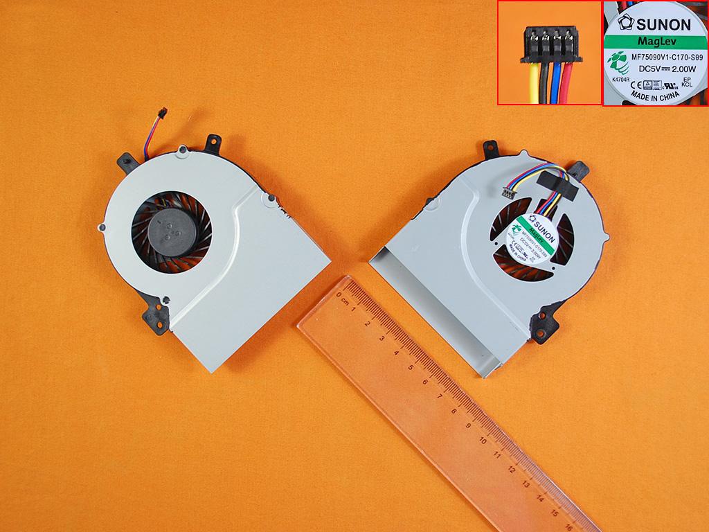 Ventilátor chlazení pro notebooky Asus K55 K55V K55VD