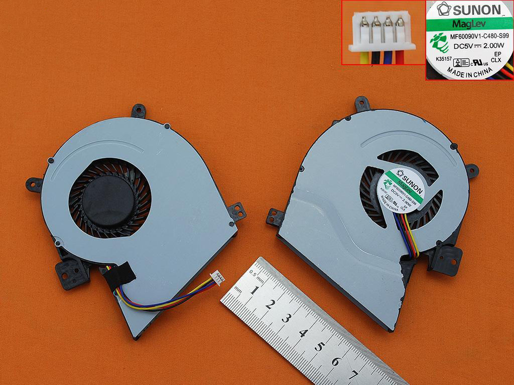Ventilátor chlazení pro notebooky Asus X451ca X551CA X451 X551 X551MA X451C X511C