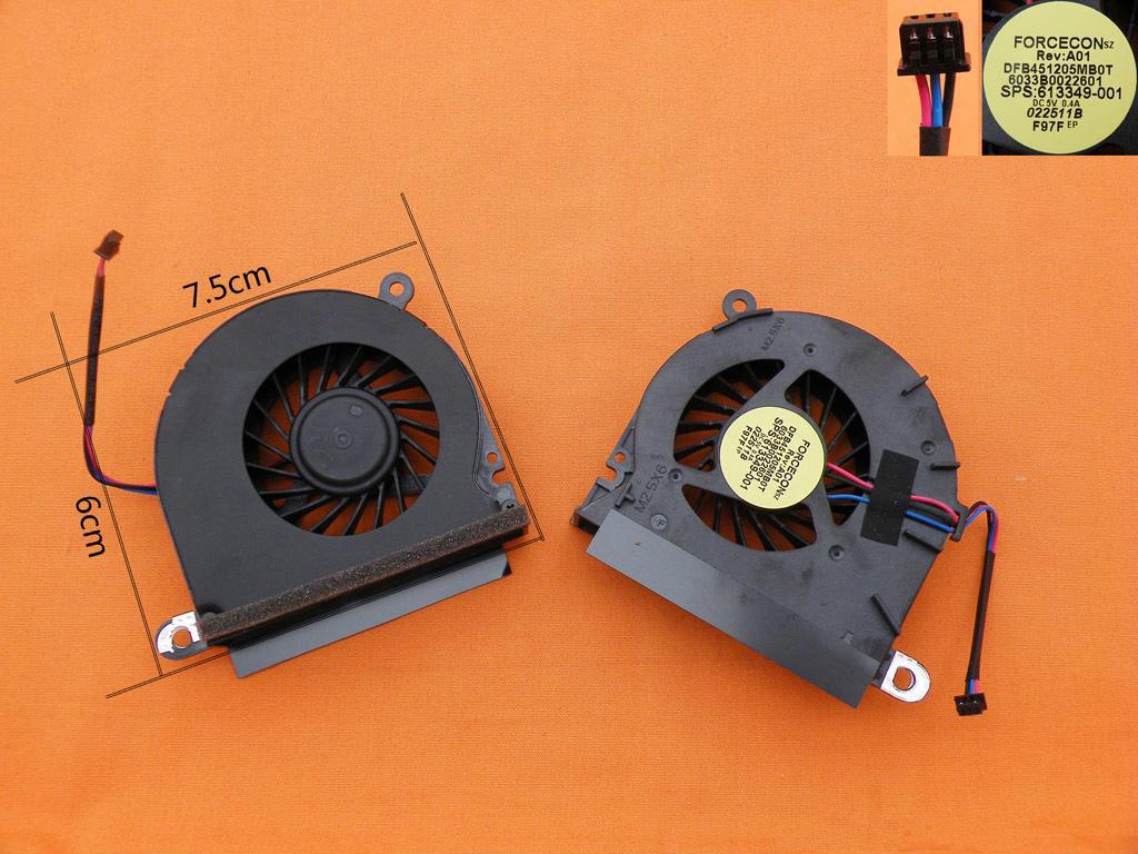 Ventilátor chlazení pro notebooky HP ProBook 6545B 6445B 6555b 6440B 6540B