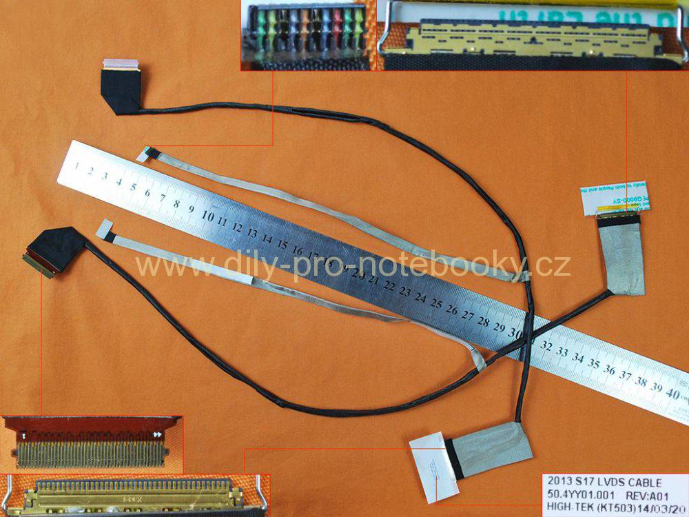 LCD flex kabel pro notebooky HP ProBook 470 G1 470 G0 S17