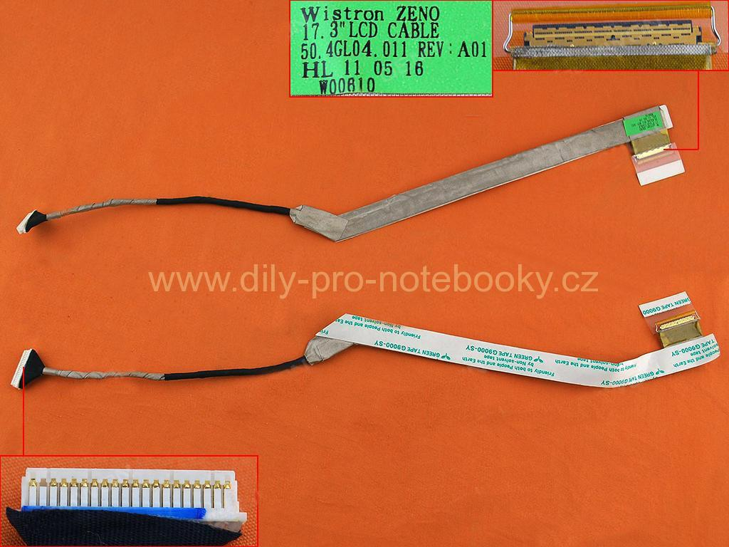 LCD flex kabel pro notebooky HP Probook 4710 4710S 4720S