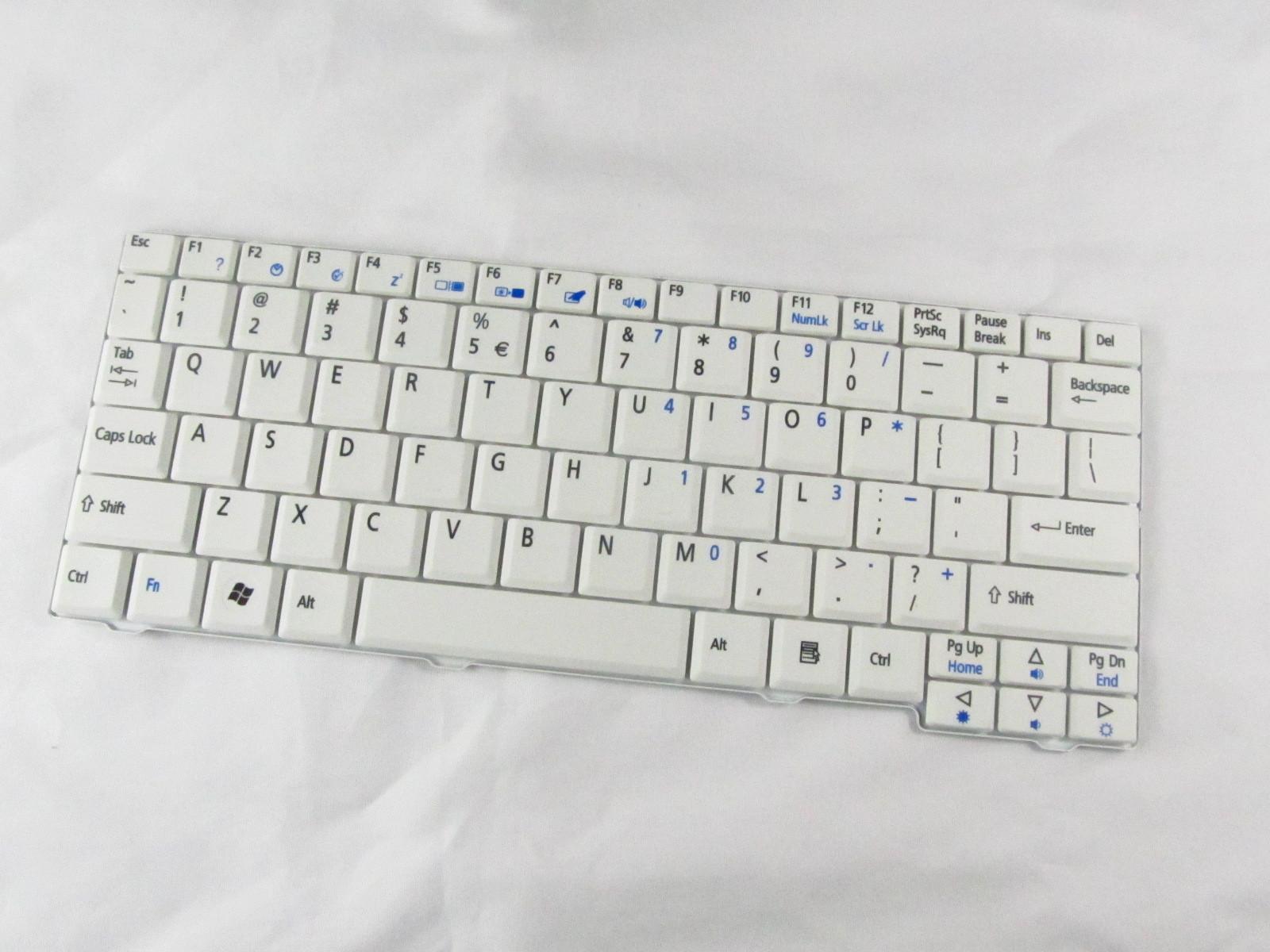 Klávesnice pro notebooky Acer Aspire One A110 A150 D150 D250 531h 571h - bílá